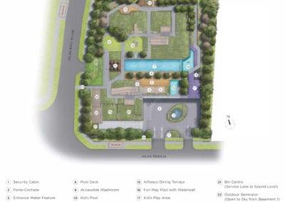 Mont Botanik Residence - site plan-1st-Floor