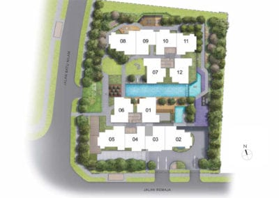 Mont Botanik Residence - site plan-2nd-10th-Floor