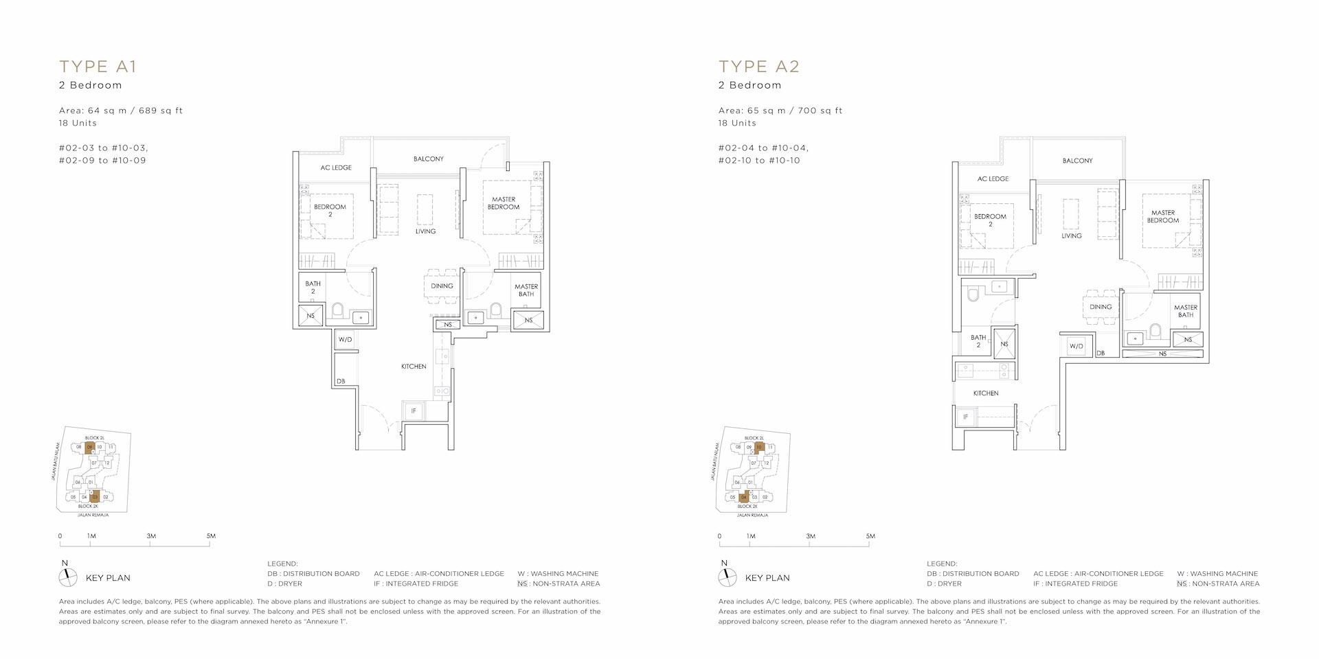 A1 A2 Floor Plan - MONT BOTANIK RESIDENCE