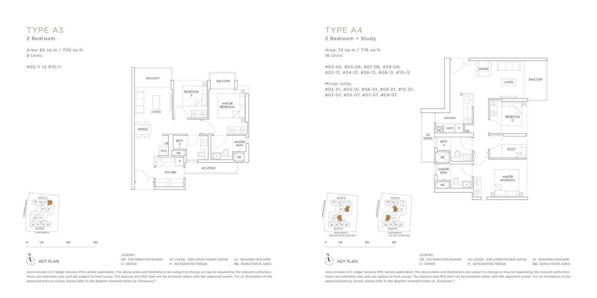 A3 A4 Floor Plan - MONT BOTANIK RESIDENCE